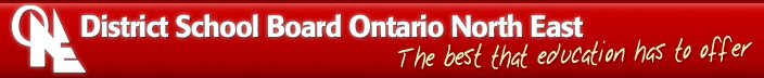 Logo of District School Board of Ontario North East